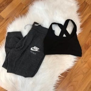 Nike jersey cropped joggers